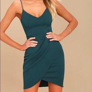 Green Blue Bodycon Dress